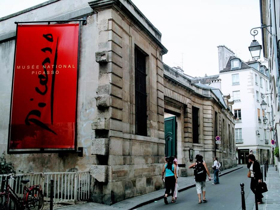 Exterior view of the Musee Picasso in the Marais in Paris