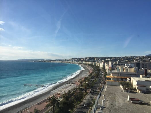 View from Le Meridien Hotel in Nice France