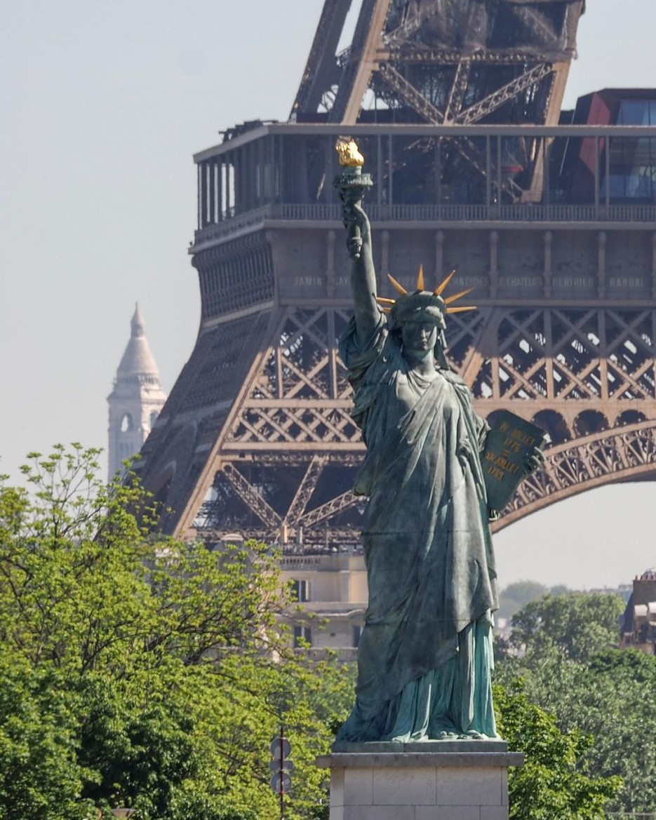 The Statue of Liberty model in Paris France