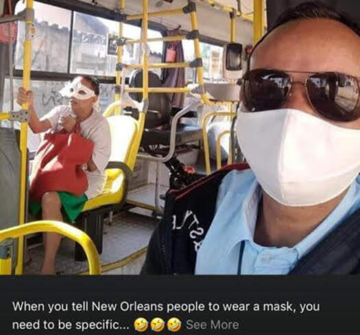 Mask Wearing in New Orleans