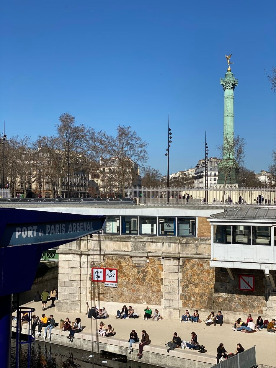 Photo of the Bassin de l'Arsenal in Paris France