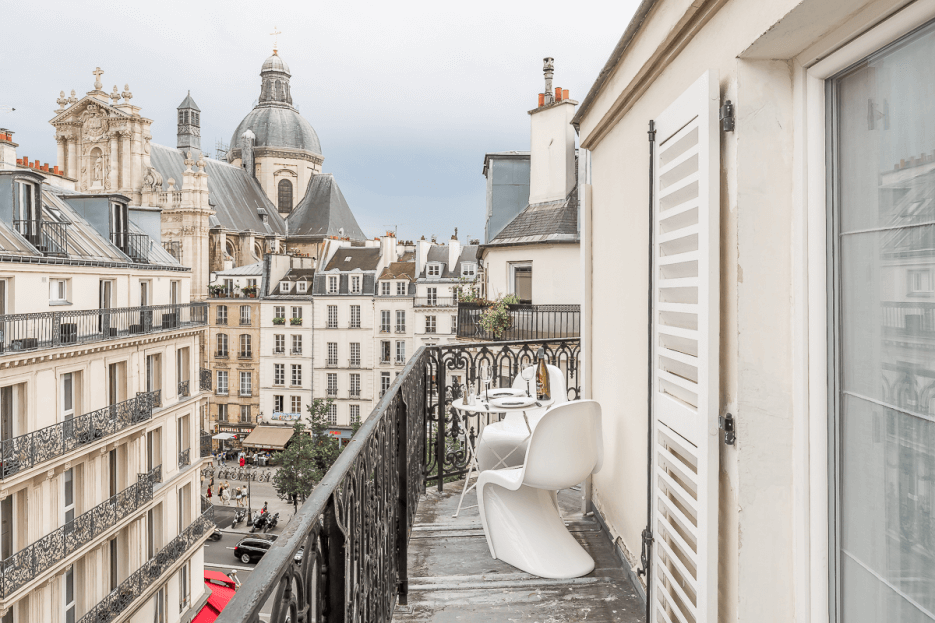 The view from the balcony of fractional property Les Balcons Saint-Paul