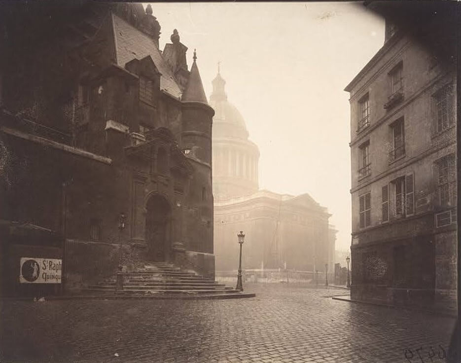 Very old photo of the Church of Saint Etienne du Mont in Paris