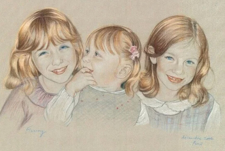 Three Sisters portrait by Rosemary Flannery