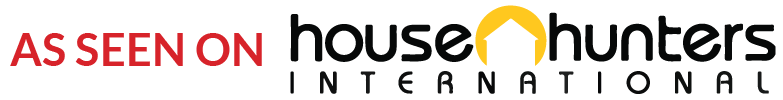 Adrian Leeds as seen on House Hunters International logo