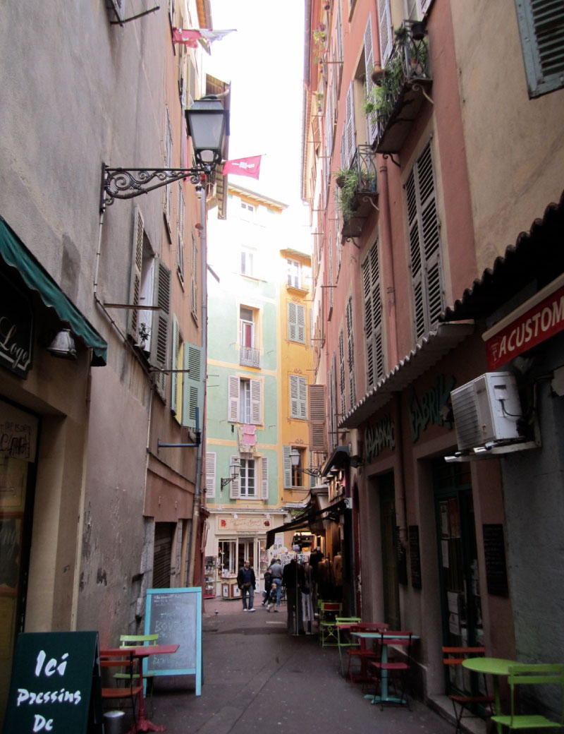 Street in the old town of Nice, France