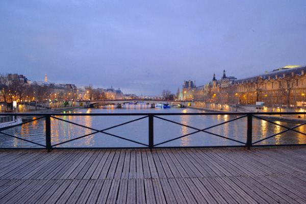 View from the Pont des Arts bridge in the evening copyright Patty Sadauskas