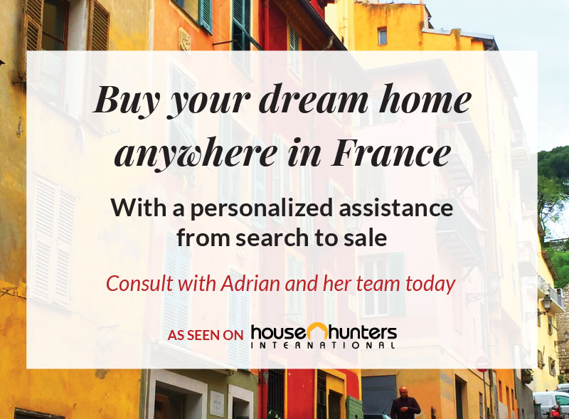 Buy your dream home anywhere in France with professional assistance - search to sale - French street with colorful homes