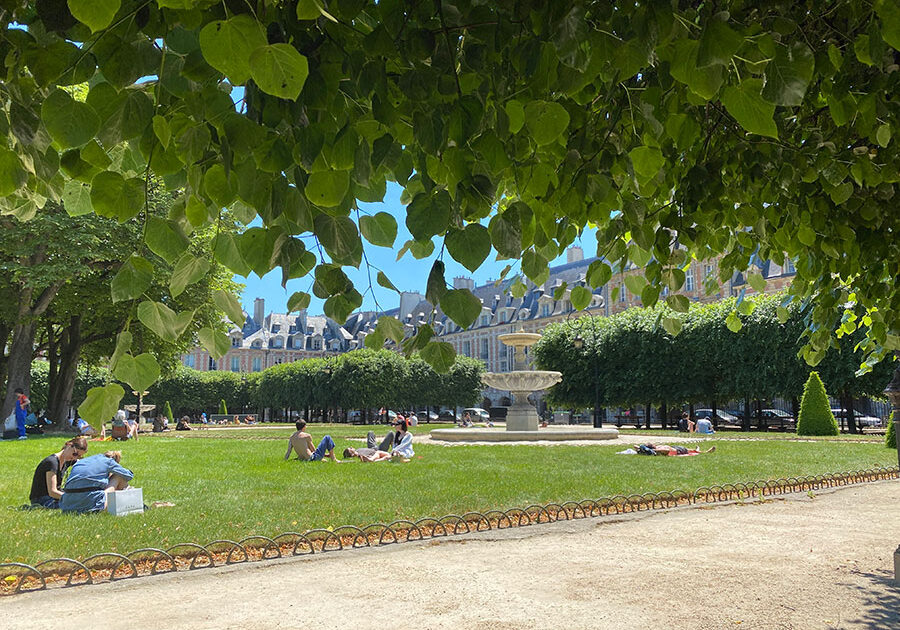 A Sunny Day at Place des Vosges