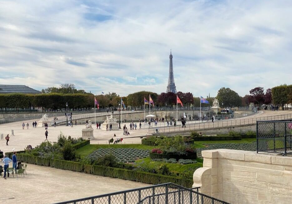 View of the Eiffel Tower from the Jardin des Tuileries